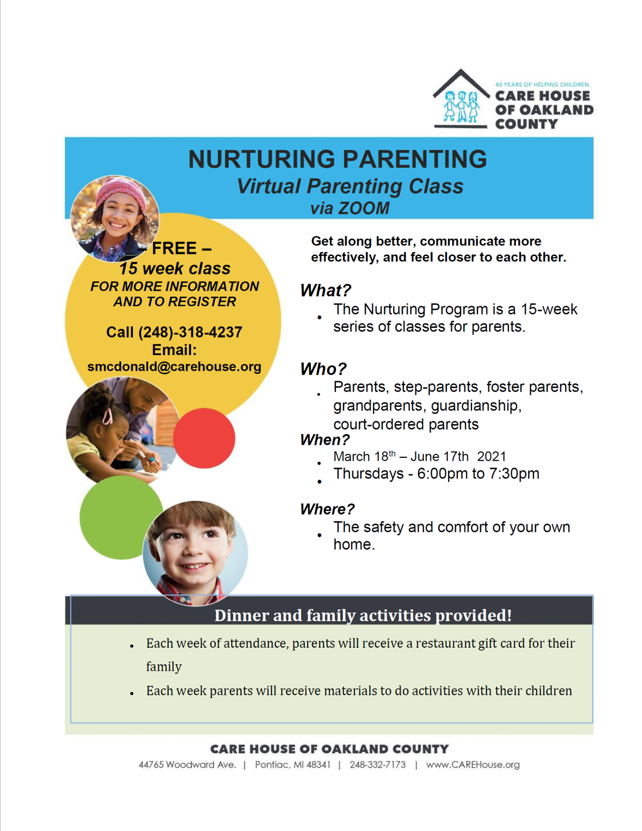 Nurturing Parents Flyer 2021